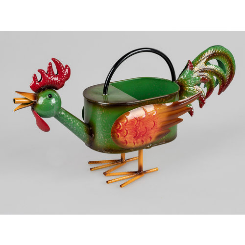 Metal watering can chicken