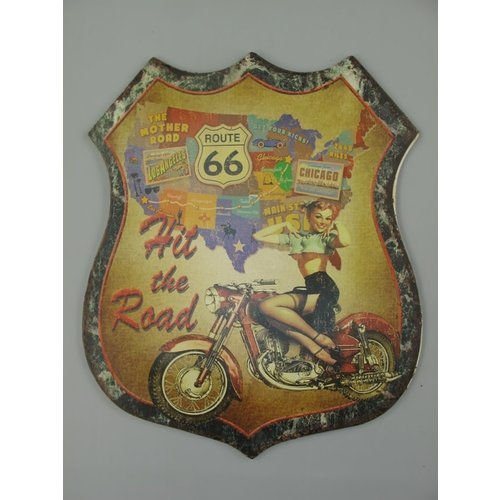 Wall decoration Route 66 Hit the road