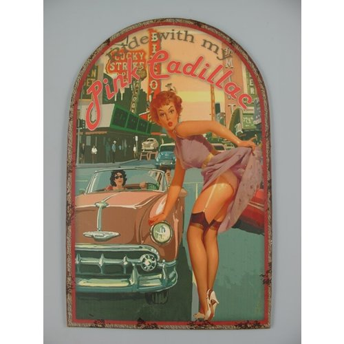 Wall decoration Pink Cadillac