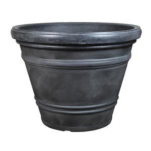 Flowerpot round super-large Rinca 102cm anthracite