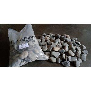 Ornamental boulders flat gray 3-5cm.