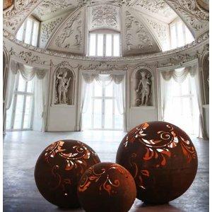 Lichtbol ijzer roest 40cm Barok