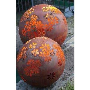 Lichtbol ijzer roest 50cm Hippie