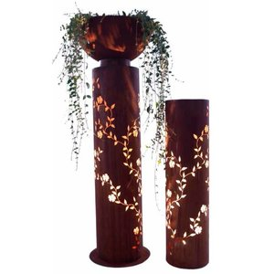 Zuil rond roest  Evergreen 120cm