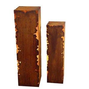 Säule quadratischer Rost Gravina 25x25x100cm