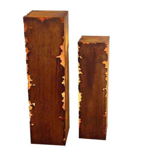 Column square rust Gravina 25x25x100cm