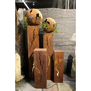Säule quadratischer Rost Barstio 30x30x120cm