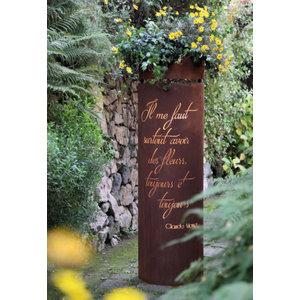 Zuil ijzer roest Monet halfrond 170cm