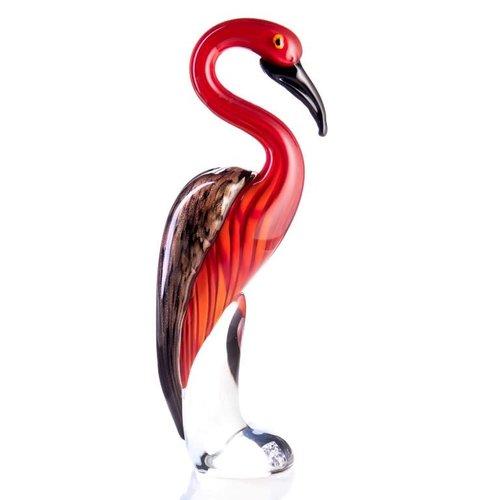 Flamingo glass 33cm