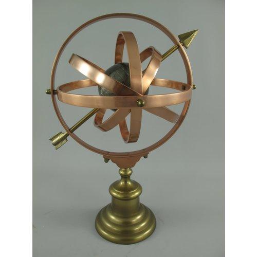 Sundial bronze color 35x28x48 cm high