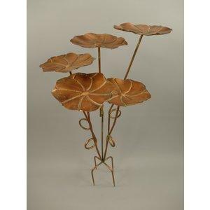 Vogelvoeder standaard 5 bloemen bronskleur
