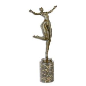 Vrouwelijk naakt brons 43cm
