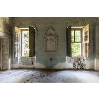 Glass painting 110x160 cm. Open windows