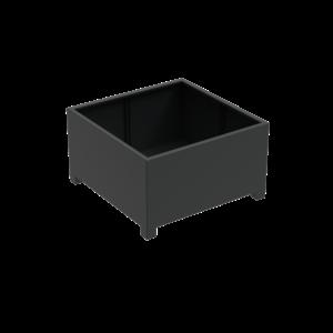 Adezz Producten Pflanzgefäß Aluminium Square Florida mit Beinen 140x140x80cm