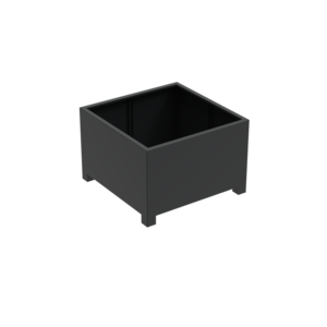 Adezz Producten Pflanzgefäß Aluminium Square Florida mit Beinen 120x120x80cm