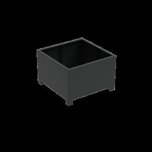 Adezz Producten Planter Aluminum Square Florida with legs 120x120x80cm