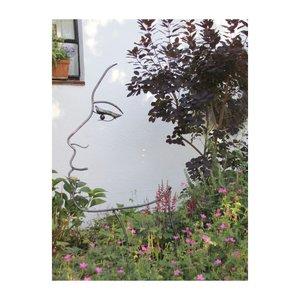 Silhouet gezicht groot vrouw zwart 110cm