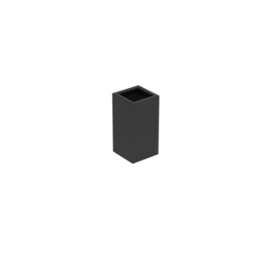 Adezz Producten Pflanzgefäß Aluminium Square Florida 40x40x80cm