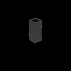 Adezz Producten Pflanzgefäß Aluminium Square Florida 40x40x100cm