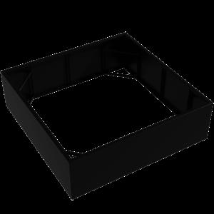 Adezz Producten Pflanzgefäß Aluminium Square Florida ohne Boden 200x200x60cm