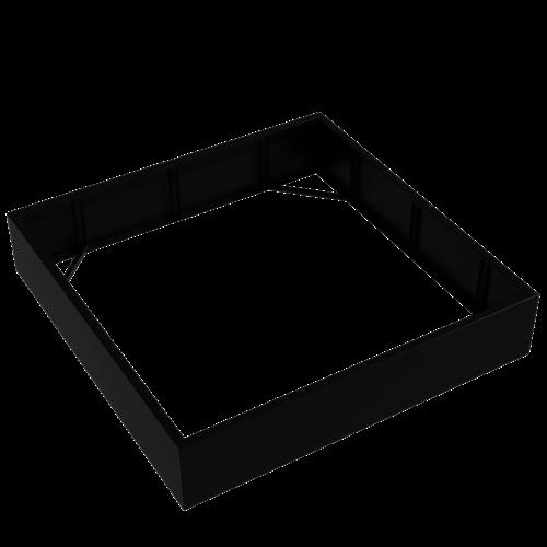 Adezz Producten Plantenbak Aluminium Vierkant Florida zonder bodem 200x200x40cm