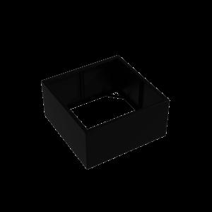Adezz Producten Pflanzgefäß Aluminium Square Florida ohne Boden 120x120x60cm
