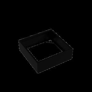 Adezz Producten Pflanzgefäß Aluminium Square Florida ohne Boden 120x120x40cm