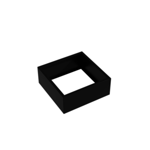 Adezz Producten Pflanzgefäß Aluminium Square Florida ohne Boden 100x100x40cm
