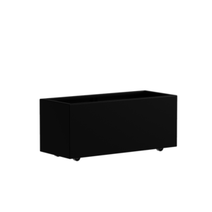 Adezz Producten Pflanzgefäß Aluminium Rechteck Florida mit Rädern 120x50x50cm