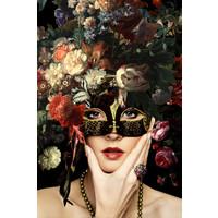 Glasschilderij Masker