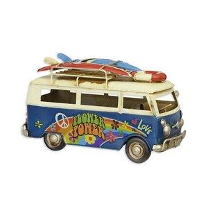 Miniature model Flower power surf bus