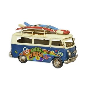 Miniatuur model Flower power surf bus