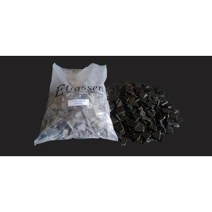 Sierkeien plat mozaiek  black grey