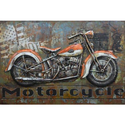 Metalen 3D schilderij Motorcycle