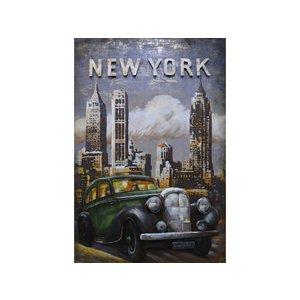 Metalen 3D schilderij New York