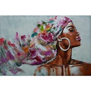 Metalen 3D schilderij Colorfull woman