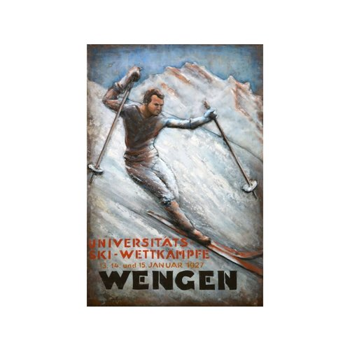 Metal 3D painting Wengen