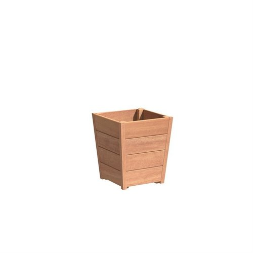 Adezz Producten Plantenbak Hardhout Vierkant Sevilla Tapered 50x50x58cm