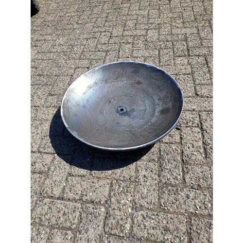 Water bowl Corten steel with watercourse 60cm