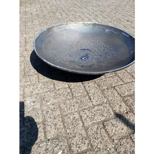 Water bowl Corten steel with watercourse 100cm