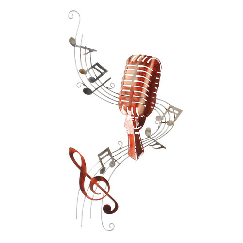 Wall decoration Music Microphone