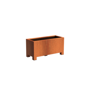 Adezz Producten Pflanzgefäß Corten Stahl Rechteck Anden mit Beinen 120x50x60cm