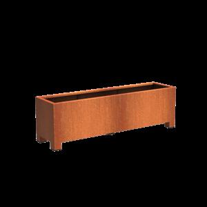 Adezz Producten Pflanzgefäß Corten Stahl Rechteck Anden mit Beinen 200x50x60cm
