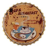 Wanddeco 3d Bierdop Breakfast 50cm