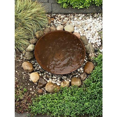 Wassernapf Cortenstahl mit Wasserlauf 80cm