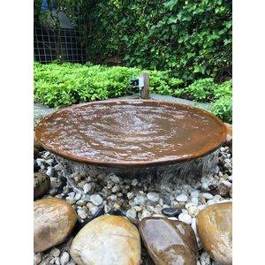 Wassernapf Cortenstahl mit Wasserlauf 100cm