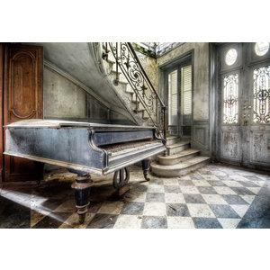 Glasschilderij Piano
