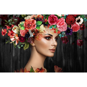 Glass painting Flower art