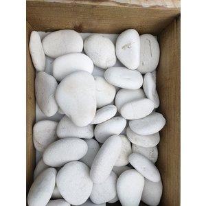Sierkeien plat wit 5-8 cm.