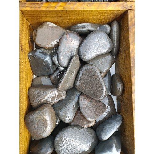 Sierkeien  plat grijs 50-80mm